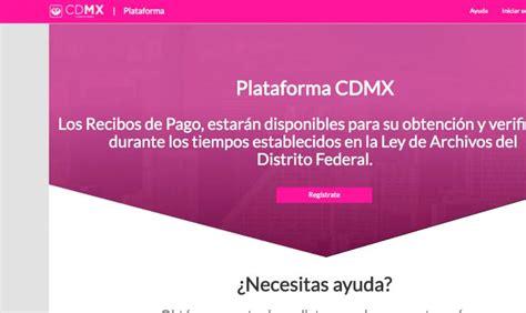 plataforma cdmx registro recibos plataforma ciudad de mexico