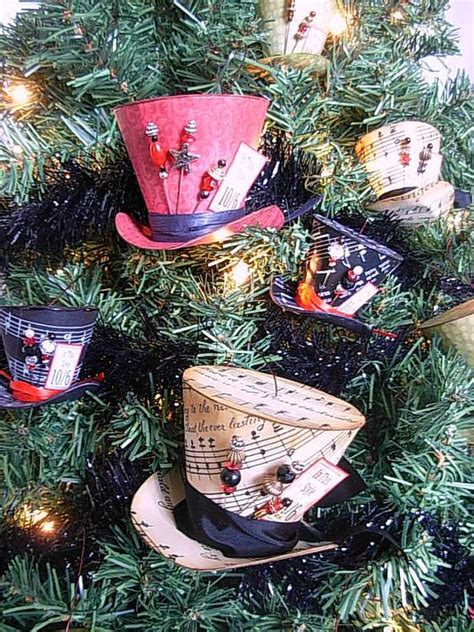 Mad Hatter Hat Card Template by Mad Hatter Style Hat Ornaments Tutorial Free Printable