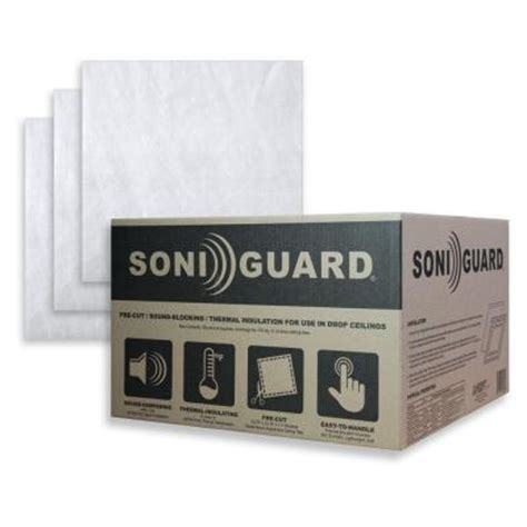 Soundproof Ceiling Tiles Home Depot by Ceilume Soniguard 24 In X 24 In Drop Ceiling Acoustic