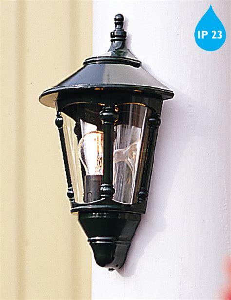 Patio Lights Cing Konstsmide Virgo Ip23 1 Light Outdoor Half Wall Lantern