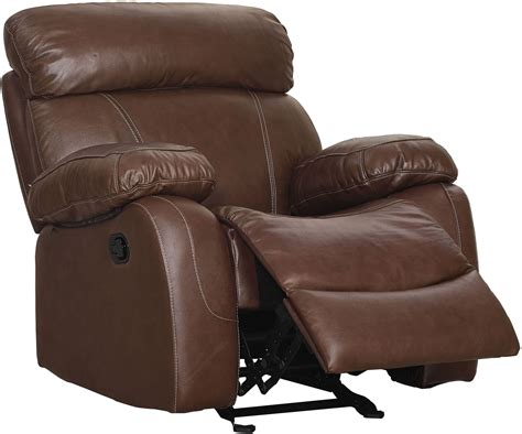 dante recliner dante light brown power glider recliner l2041 13p lbn