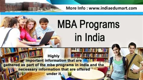 Mba Electives In India by Mba Programs In India