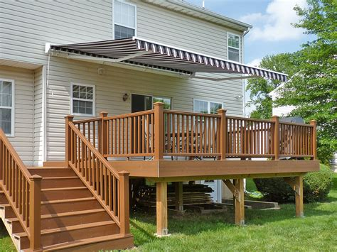 Wood Awnings For Decks by Awnings Traditional Outdoor Deck Awning With Roof Tile