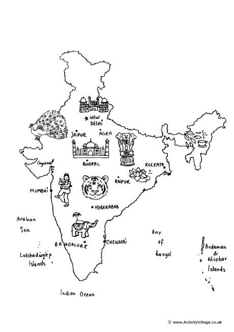 coloring pages of india map india map colouring page