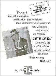 sinatra come swing with me 1961 swing along with me