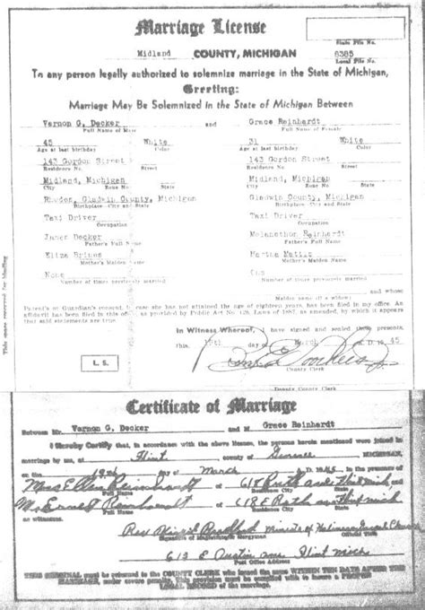 Marriage Records Mi Marriage Licenses In Michigan