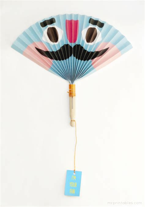 Paper Craft Fan - summer paper fans mr printables