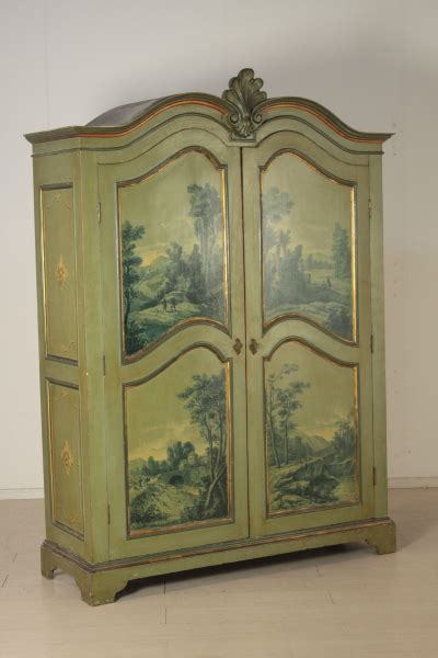armadio decorato armadio decorato mobili in stile bottega 900