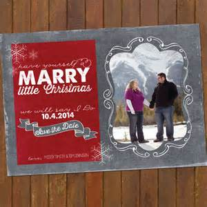 christmas wedding save the date cards combine by