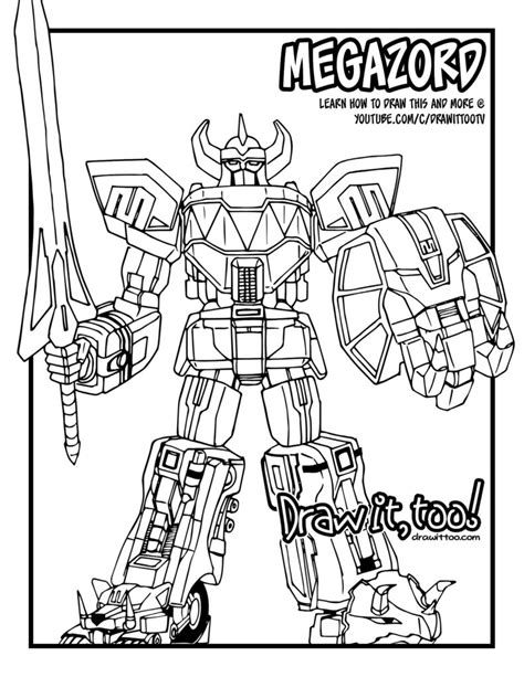 original power rangers megazord coloring pages www