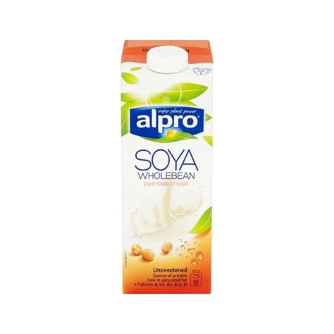 Sgm Soya 1 5 alpro longlife unsweetened soya milk alternative 1l ebay