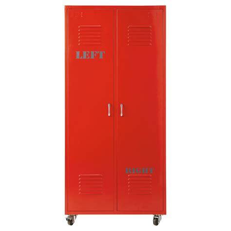 kleiderschrank rot kleiderschrank im industrial stil aus metall b 85 cm rot