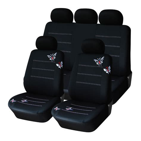 Fit Upholstery by Autoyouth Polyester Fabric Butterfly Embroidery Car