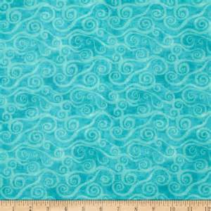 108 quot wide quilt back flannel swirly scroll teal discount