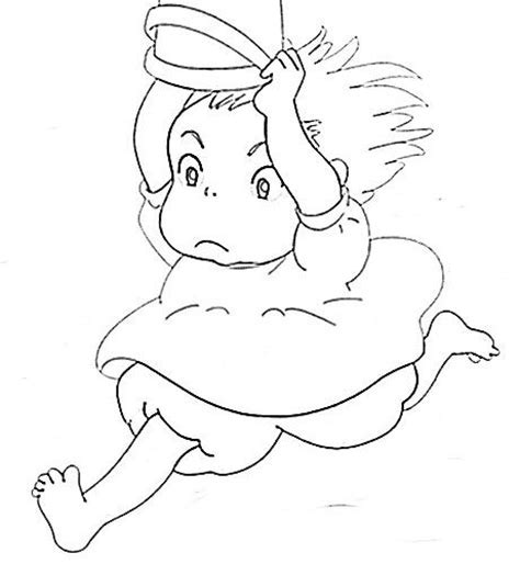 Ponyo Coloring Pages Home