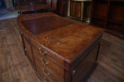 high end executive desks leather top executive desk high end george iii antique
