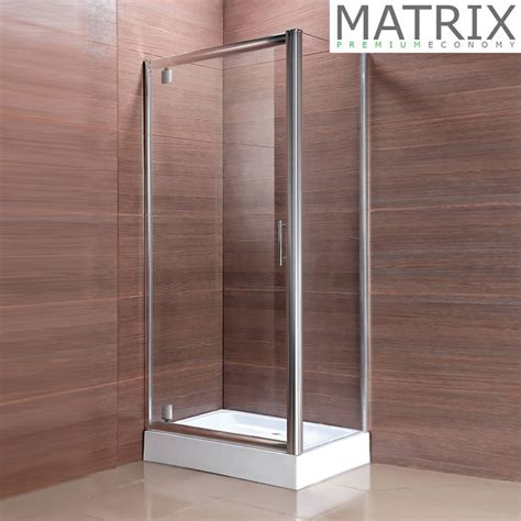 Matrix Premium Economy Pivot Door Square Shower Enclosure Matrix Shower Doors