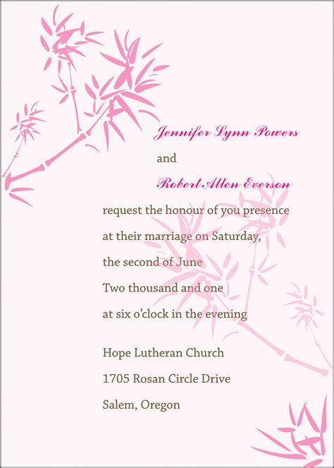 doc 709800 wording for wedding registry on invitation