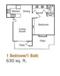 1 Bed 1 Bath Floor Plans by Falkirk