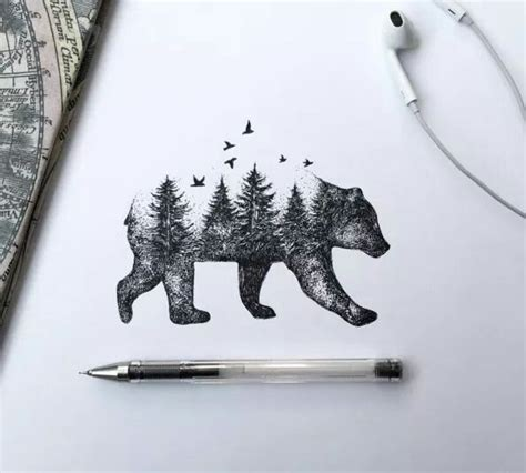 simple bear tattoo 25 best ideas about tattoos on