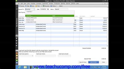 tutorial on quickbooks 2013 quickbooks pro 2013 tutorial making deposits intuit