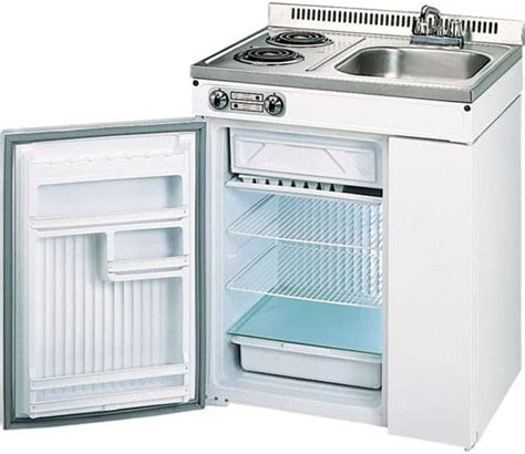 compact kitchen sink range refrigerator in a modular danby d2000w compact kitchen complete with cooktop sink