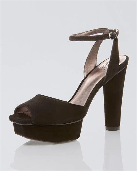 Athira Suede Platform Sandal pelle moda ummy suede platform sandal in black blk lyst