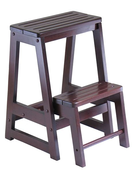 Step Stool winsome wood step stool antique walnut new free