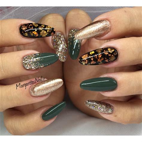 green  rose gold nails nail art gallery
