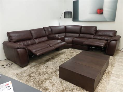 natuzzi leather power reclining sectional natuzzi editions power reclining cinema seating sofa by
