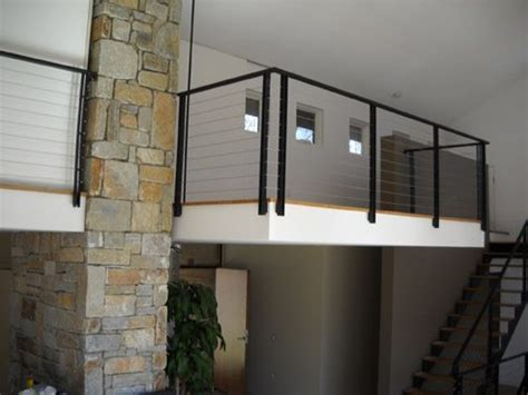 wire banister wrought iron rails and stainless steel railings acadia