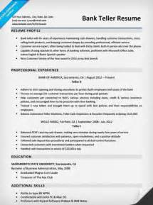 bank teller resume sle writing tips resume companion