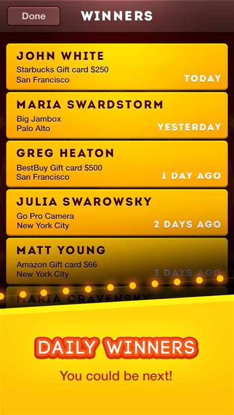 Gopro Daily Giveaway Winners List - prize spin sweepstakes and giveaways free iphone ipad app market