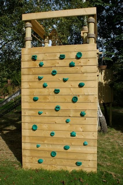 backyard rock wall climbing walls for treehouses adventures fun and gardens
