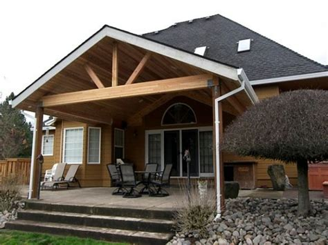 Gable Patio Designs Free Standing Patio Cover Designs Attaching Porch Roof To House Gable Roof Patio Cover Design