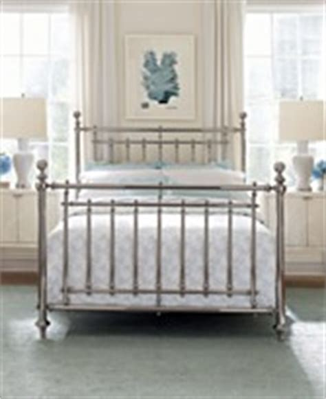 Martha Stewart Headboards by Macys Martha Stewart Nickel Plated Metal Irvington Bed Metal Beds Bedroom Furniture