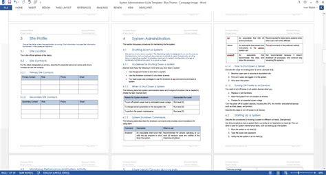 network handover document template system administrator guide template sdlc