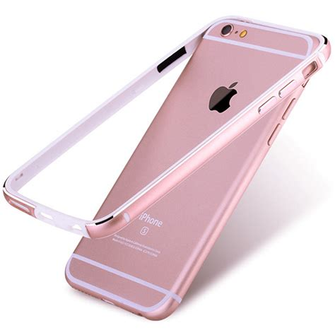 2 In 1 Metal Iphone 6 for apple iphone 6 6s 4 7 inch ultra thin slim bumper aluminum metal frame soft silicone side