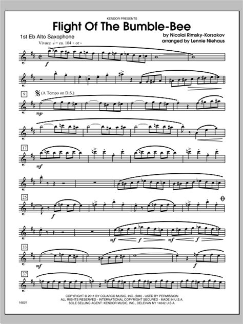 Flight Of The Bumble-Bee - Alto Sax 1 | Sheet Music Direct