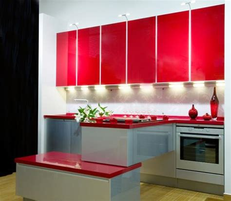 Kitchen Island Designs For Small Spaces Red Color Can Revolutionize Small Kitchen Design