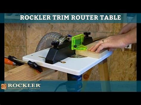 How To Use A Router Table by Trim Router Table Rockler Woodworking And Hardware