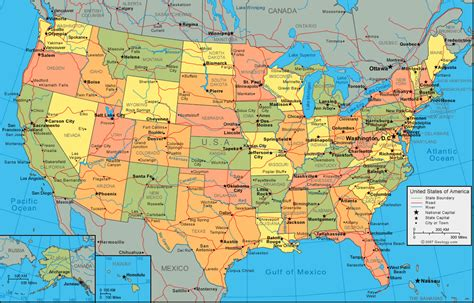 map usa geographical geography