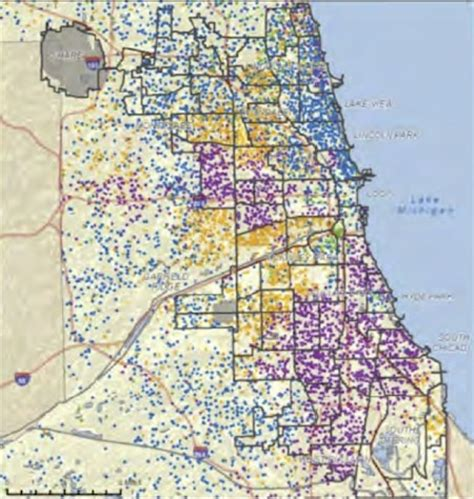 chicago map by race in step with income inequality us cities more