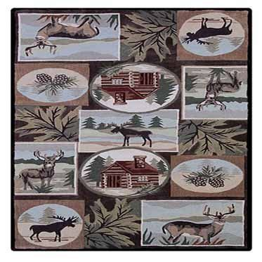 linon home decor rug wp0257 wilderness area rug olive 5 w
