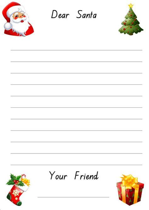 Free Printable Dear Santa Letter Templates Hd Writing Co Free Dear Letter Template