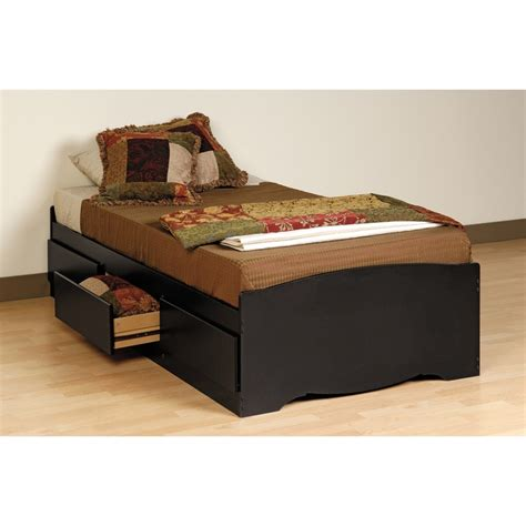 black twin bed with storage black twin mate s composite wood platform storage bed with