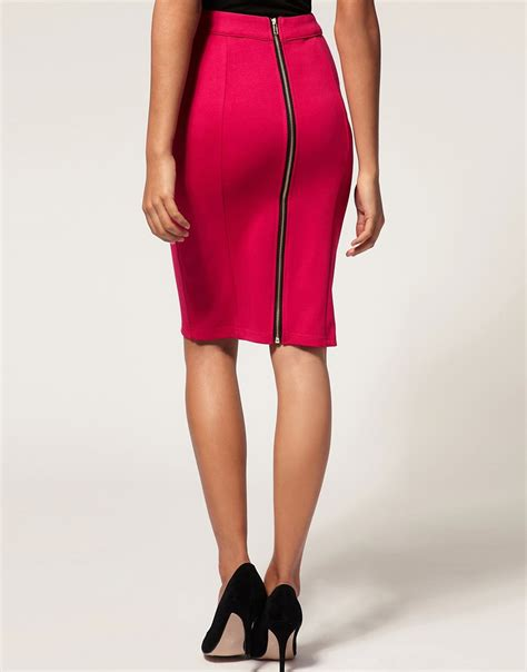 image 2 of paprika pencil skirt with zip back