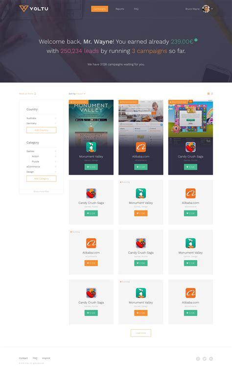 grid pattern ui automation voltu social influencer platform ui user interface