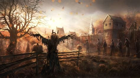 halloween hd wallpaper background image  id