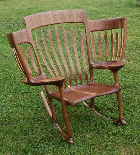 Who Invented The Rocking Chair by Invents Three Seated Rocking Chair For His